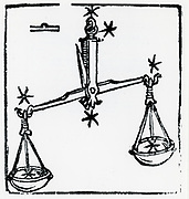 Zodiac sign of Libra. From 'Sphaera mundi', Strasburg, 1539