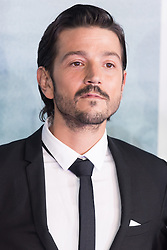 © Licensed to London News Pictures. 13/12/2016. DIEGO LUNA attends the launch of Rogue One: A Star Wars Story. The film follows a group of unlikely heroes banding together on a mission to steal the plans to the Death Star, the Empire's ultimate weapon of destruction. This key event in the Star Wars timeline brings together ordinary people who choose to do extraordinary things, and in doing so, become part of something greater than themselves. London, UK. Photo credit: Ray Tang/LNP