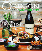 September cover of Oregon Wine Press featuring Urban Farmer and Angela Estate collaboration.