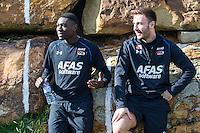 ESTEPONA - 05-01-2016, AZ in Spanje 5 januari, AZ speler Derrick Luckassen, AZ speler Muamer Tankovic