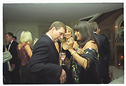 PRINCE ANDREW, MALA LINDSAYMala Lindsay dinner party, Chelsea, London. September 1999