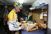 SPAIN / SPANJE / MALLORCA / CYCLING / WIELRENNEN / CYCLISME / CYCLOCROSS / VELDRIJDEN / TELENET FIDEA CYCLING TEAM / WINTERSTAGE / TRAINING CAMP / JENS VANDEKINDEREN /<br /> <br /> RIDERS PICTURED AT THE END OF THE TRAINING