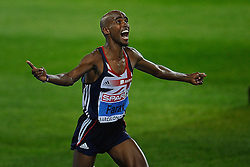 27.07.2010, Olympic Stadium, Barcelona, ESP, European Athletics Championships Barcelona 2010, im Bild Mo Farah ENG European Champions on the 10000 meters EXPA Pictures © 2010, PhotoCredit: EXPA/ nph/ . Ronald Hoogendoorn+++++ ATTENTION - OUT OF GER +++++