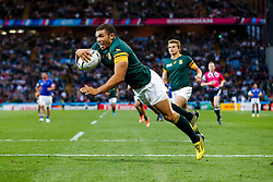South Africa Winger Bryan Habana scores a try - Mandatory byline: Rogan Thomson/JMP - 07966 386802 - 26/09/2015 - RUGBY UNION - Villa Park - Birmingham, England - South Africa v Samoa - Rugby World Cup 2015 Pool B.