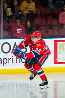 KELOWNA, BC - MARCH 13: Ty Smith #24 of the Spokane Chiefs skates against the Kelowna Rockets at Prospera Place on March 13, 2019 in Kelowna, Canada. (Photo by Marissa Baecker/Getty Images)