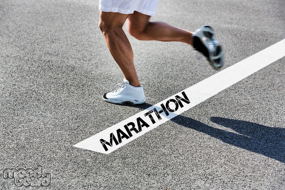 Man running on marathon