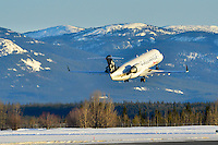 Air Canada Jazz Star Alliance CRJ-200 lifts off in Whitehorse, Yukon