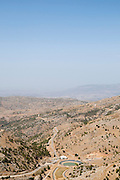 Israel, Golan Heights, Mount Hermon in Summer view from the mountain peak