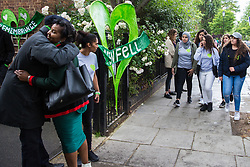 London, UK. 14 June, 2019. Guests arrive to attend a memorial service at St Helen's Church to mark the second anniversary of the Grenfell Tower fire on 14th June 2017 in which 72 people died and over 70 were injured.