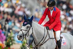 WARD McLain (USA), Clinta<br /> Tryon - FEI World Equestrian Games™ 2018<br /> FEI World Individual Jumping Championship<br /> Third cometition - Round A<br /> 3. Qualifikation Einzelentscheidung 1. Runde<br /> 23. September 2018<br /> © www.sportfotos-lafrentz.de/Stefan Lafrentz