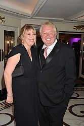 NICK FERRARI and CLARE PATTERSON at the annual PINKTOBER Gala presented by Hard Rock Heals at The Dorchester, Park Lane, London on 14th October 2016.  The annual event raises money for The Caron Keating Foundation.