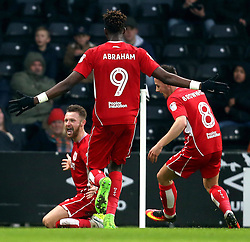 Matty Taylor of Bristol City celebrates scoring his first goal for the club - Mandatory by-line: Robbie Stephenson/JMP - 11/02/2017 - FOOTBALL - iPro Stadium - Derby, England - Derby County v Bristol City - Sky Bet Championship
