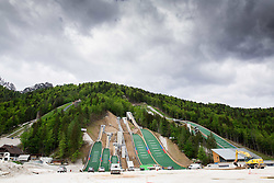 Building of Nordic centre in Planica, on May 14, 2014 in Planica, Slovenia. Photo by Vid Ponikvar / Sportida