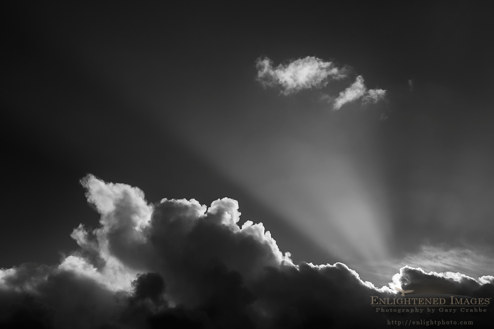 Crepuscular ray and clouds