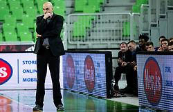 Dejan Cikic, coach of Helios Suns during basketball match between KK Union Olimpija and KK Helios Suns in Round 8 of Nova KBM 2016/17 Champions League, on March 29, 2017 in Arena Stozice, Ljubljana, Slovenia. Photo by Vid Ponikvar / Sportida