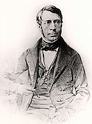 George Biddell Airy (1801-1892) English astronomer and geophysicist born at Alnwick, Northumberland.  Astronomer Royal and Director of the Royal Greenwich Observatory (1835-1881).  Engraving.