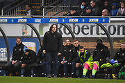 Wycombe Wanderers Manager Gareth Ainsworth observes his team during the EFL Sky Bet League 2 match between Wycombe Wanderers and Carlisle United at Adams Park, High Wycombe, England on 3 February 2018. Picture by Stephen Wright.