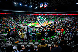 Spectators during ABA basketball league round 9 match between teams KK Cedevita Olimpija and KK Crvena Zvezda MTS in Arena Stozice, 1. December, 2019, Ljubljana, Slovenia. Photo by Grega Valancic / Sportida