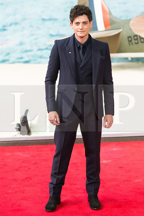 © Licensed to London News Pictures. 13/07/2017. London, UK. ANEURIN BARNARD attends the Dunkirk World Film Premiere. Photo credit: Ray Tang/LNP