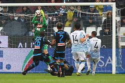 """Foto LaPresse/Filippo Rubin<br /> 12/05/2019 Ferrara (Italia)<br /> Sport Calcio<br /> Spal - Napoli - Campionato di calcio Serie A 2018/2019 - Stadio """"Paolo Mazza""""<br /> Nella foto: ALEX MERET (NAPOLI)<br /> <br /> Photo LaPresse/Filippo Rubin<br /> May 12, 2019 Ferrara (Italy)<br /> Sport Soccer<br /> Spal vs Napoli - Italian Football Championship League A 2018/2019 - """"Paolo Mazza"""" Stadium <br /> In the pic: ALEX MERET (NAPOLI)"""