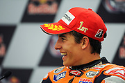 April 19-21, 2013- Marc Marquez (SPA), Repsol Honda Team smiles during the post race press conference.