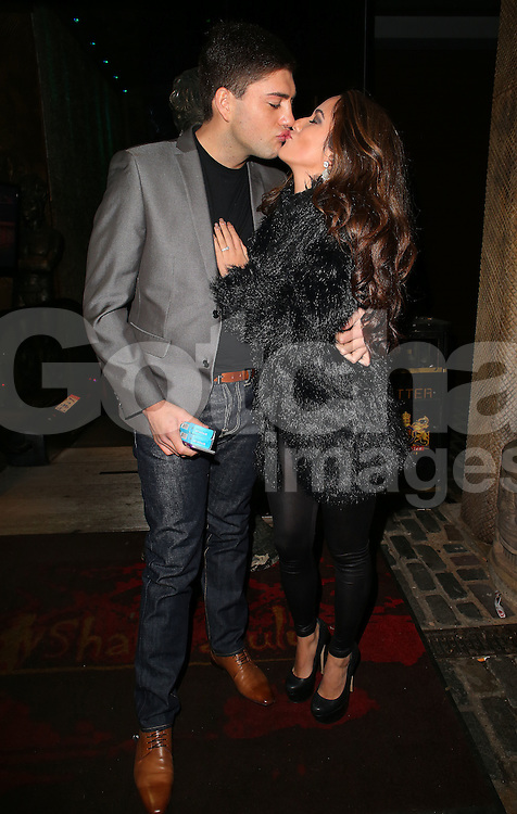 Steven Goode and Kimberly Kisselovich&nbsp;at their engagement party at Shaka Zulu, Stables Market in London, UK. 29/11/2014<br />