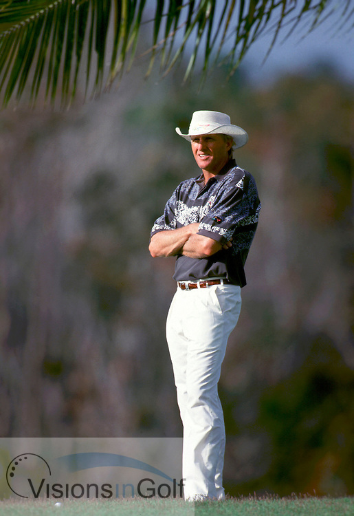 940220/BLUE CANYON GC, THAILAND/PHOTO MARK NEWCOMBE/JOHNNIE WALKER CHAMPIONSHIP<br /> <br /> GREG NORMAN<br /> THAILAND<br /> 1994