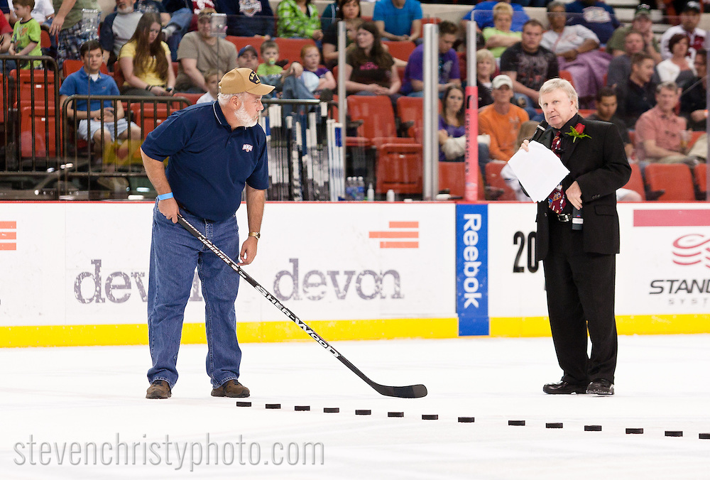 April 2, 2011: The Oklahoma City Barons play the Texas Stars in an American Hockey League game at the Cox Convention Center in Oklahoma City.