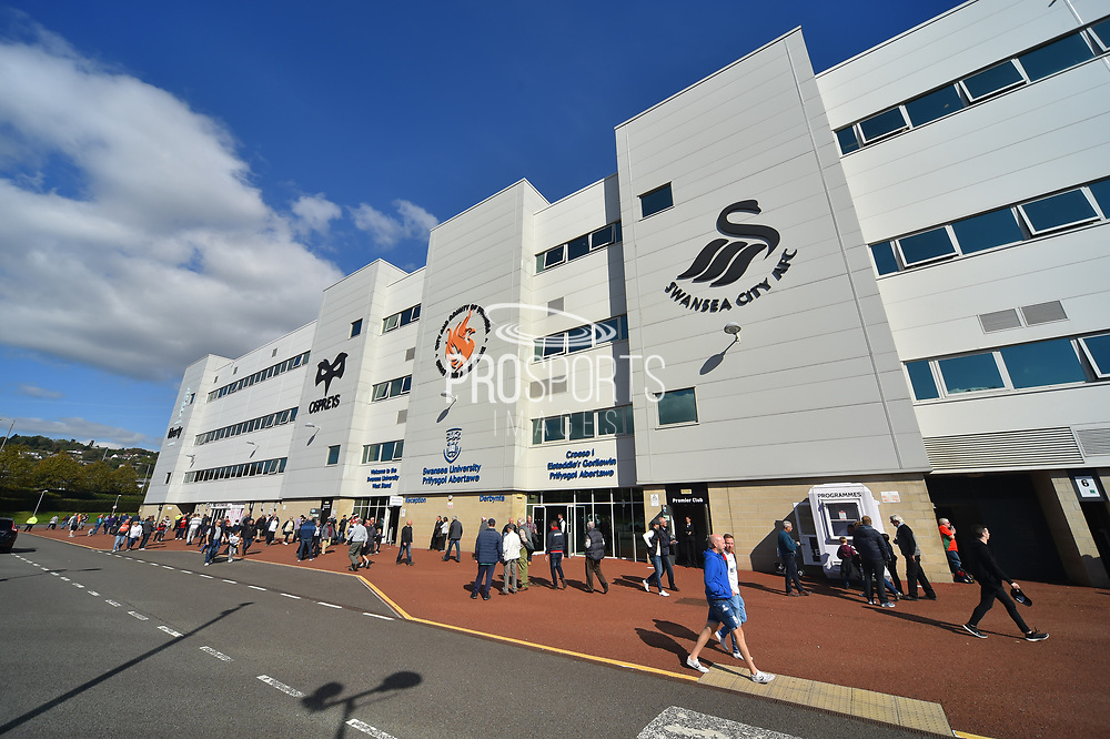 General view outside the Liberty Stadium before the EFL Sky Bet Championship match between Swansea City and Queens Park Rangers at the Liberty Stadium, Swansea, Wales on 29 September 2018.