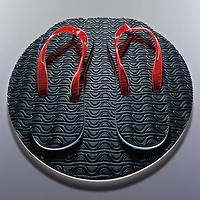 A pair of flip flops