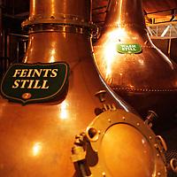 Europe, Ireland, Dublin. Feints Still and Wash Still at Jameson Distillery.