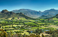 Franschhoek valley, Western Cape Province, South Africa.