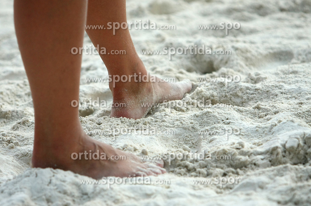 Legs at qualifications for 14th National Championship of Slovenia in Beach Volleyball and also 4th tournament of series TUSMOBIL LG presented by Nestea, on July 25, 2008, in Kranj, Slovenija. (Photo by Vid Ponikvar / Sportal Images)/ Sportida)