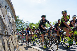 Riejanne Markus on the categorised climb on Stage 8 of the Giro Rosa - a 141.8 km road race, between Baronissi and Centola fraz. Palinuro on July 7, 2017, in Salerno, Italy. (Photo by Sean Robinson/Velofocus.com)