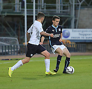 Dundee's Paul McGinn and Raith Rovers' Ryan Conroy - Dundee v Raith Rovers, Scottish League Cup at Dens Park<br /> <br />  - &copy; David Young - www.davidyoungphoto.co.uk - email: davidyoungphoto@gmail.com