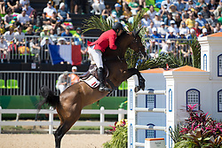 El Zoghby Karim, EGY, Amelia<br /> owner of the horse of Jerome with arms in the air<br /> Olympic Games Rio 2016<br /> © Hippo Foto - Dirk Caremans<br /> 14/08/16