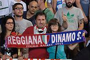 DESCRIZIONE : Reggio Emilia Lega A 2014-15 Grissin Bon Reggio Emilia - Banco di Sardegna Dinamo Sassari playoff Finale gara 5 <br /> GIOCATORE : Tifosi GrissinBon Reggio Emilia<br /> CATEGORIA : Tifosi low<br /> SQUADRA : GrissinBon Reggio Emilia<br /> EVENTO : LegaBasket Serie A Beko 2014/2015<br /> GARA : Grissin Bon Reggio Emilia - Banco di Sardegna Dinamo Sassari playoff Finale  gara 1<br /> DATA : 22/06/2015 <br /> SPORT : Pallacanestro <br /> AUTORE : Agenzia Ciamillo-Castoria / Richard Morgano<br /> Galleria : Lega Basket A 2014-2015 Fotonotizia : Reggio Emilia Lega A 2014-15 Grissin Bon Reggio Emilia - Banco di Sardegna Dinamo Sassari playoff Finale  gara 5<br /> Predefinita :