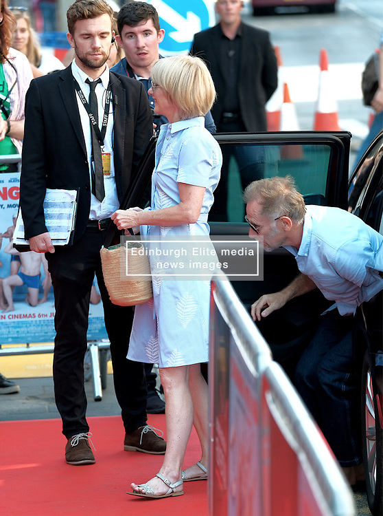 Edinburgh Film Festival, Sunday 1st July 2018<br /> <br /> SWIMMING WITH MEN (UK Premiere - Closing Night Gala)<br /> <br /> Pictured:  Jane Horrocks arrived with actor Danny Webb<br /> <br /> Alex Todd | Edinburgh Elite media