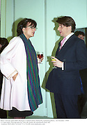 Rosa Lawson and John Morgan. Conservative Network. Saatchi gallery. 20 October 1999<br />© Copyright Photograph by Dafydd Jones 66 Stockwell Park Rd. London SW9 0DA Tel 020 7733 0108 www.dafjones.com