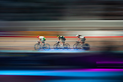February 10, 2019 - Melbourne, VIC, U.S. - MELBOURNE, VIC - FEBRUARY 08: Riders are seen competing at The Six Day Cycling Series on February 08, 2019 at Melbourne Arena, VIC. (Photo by Speed Media/Icon Sportswire) (Credit Image: © Speed Media/Icon SMI via ZUMA Press)