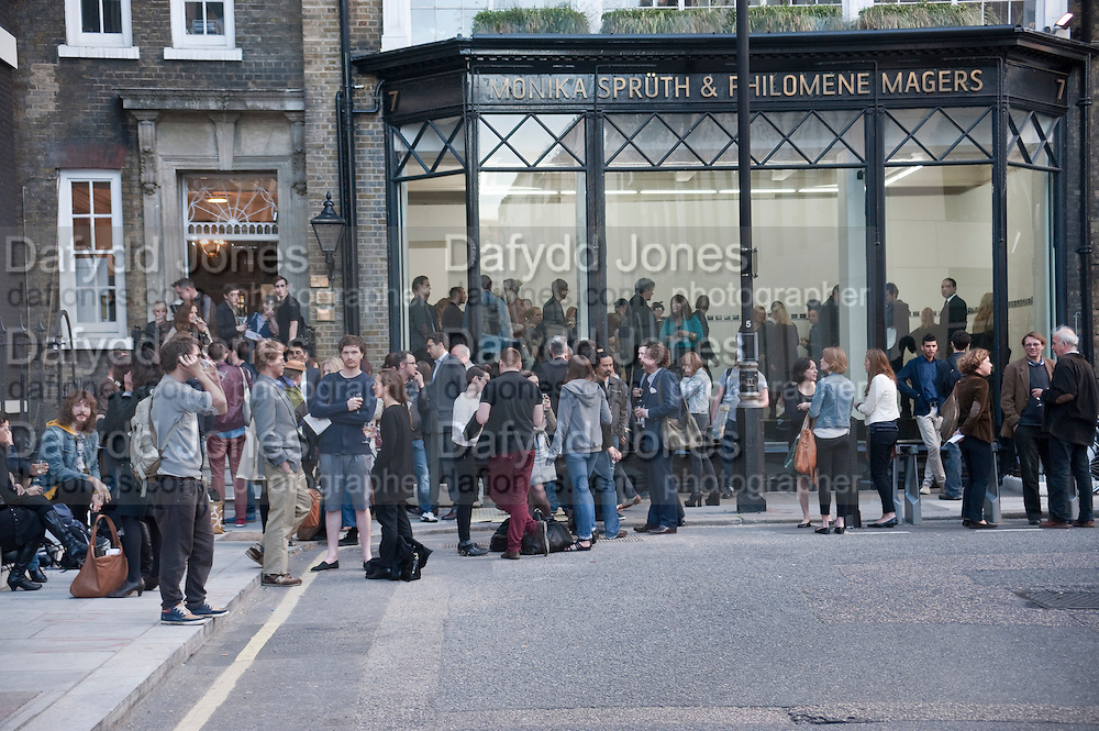 Art Opening private view, Exhibition of polaroids by PHILIP-LORCA DICORCIA at Spruth Magers, Dover st. London. 12 May 2011. <br /> <br />  , -DO NOT ARCHIVE-© Copyright Photograph by Dafydd Jones. 248 Clapham Rd. London SW9 0PZ. Tel 0207 820 0771. www.dafjones.com.