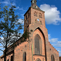 St. Canute's Cathedral in Odense, Denmark <br /> When Canute IV of Denmark was murdered in 1086 by a revolting crowd of peasants, a church was constructed on this site for the burial of the Viking king.  He was canonized as a saint in 1101.  After that church burned in 1247, it took more than two hundred years to construct the current St. Canute's Cathedral.  It was finally finished in 1499. Saint Canute's crypt is located within one of the Odense Domkirke's chapels.