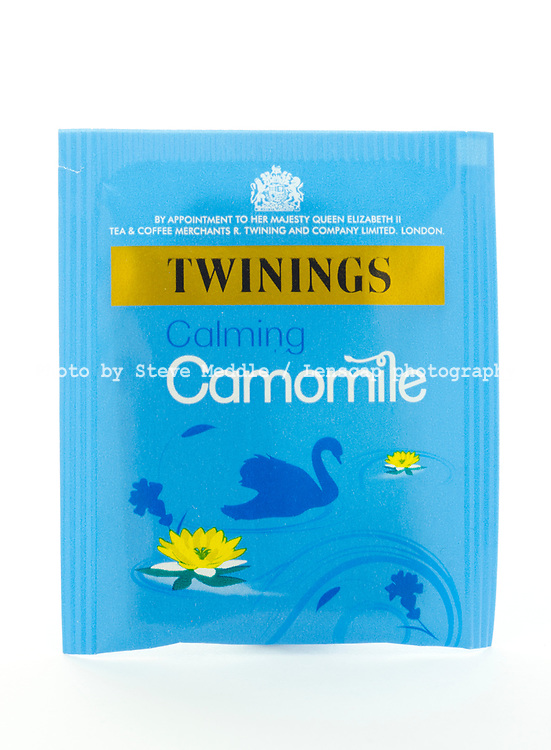 London, England - March 07, 2017: Twinings Camomile Tea, Twinings was founded by Thomas Twinings around 1706 in London, England.