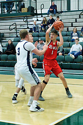 26 January 2019: Fieldcrest Knights v Dee-Mack Chiefs Boys Basketball 3rd place game during the McLean County Tournament at Shirk Center in Bloomington Illinois