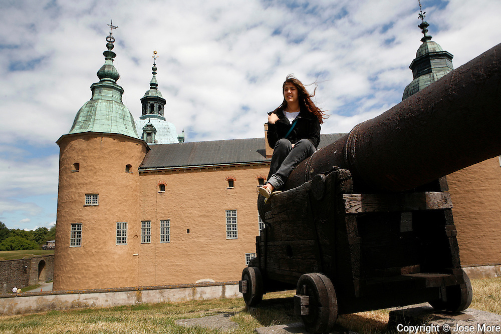 Construction of Kalmar Castle started in the 12th Century and was completed by King Gustav I in the 16th Century.<br /> MR Model Release<br /> Photography by Jose More