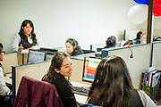 Operadoras del Call Center. Copec, 80 años. Santiago de Chile. 02-07-15, 12:24:30 (©Alvaro de la Fuente/Triple.cl)