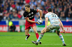 Owen Farrell of Saracens in possession - Mandatory byline: Patrick Khachfe/JMP - 07966 386802 - 14/05/2016 - RUGBY UNION - Grand Stade de Lyon - Lyon, France - Saracens v Racing 92 - European Rugby Champions Cup Final.
