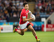 Leicester, Great Britain, Nathan HIRAYAMA, in full flight' during the Pool D game, Canada vs Romania.  2015 Rugby World Cup,  Venue, Leicester City Stadium, ENGLAND.  Tuesday    06/10/2015.   [Mandatory Credit; Peter Spurrier/Intersport-images]