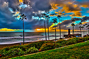 Stormy San Clemente Sunset in HDR