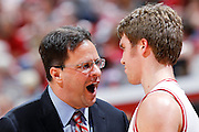 BLOOMINGTON, IN - FEBRUARY 19: Indiana Hoosiers head coach Tom Crean yells at Jordan Hulls #1 during a timeout against the Northwestern Wildcats during a Big Ten Conference game at Assembly Hall on February 19, 2011 in Bloomington, Indiana. Northwestern defeated Indiana 70-64. (Photo by Joe Robbins) *** Local Caption *** Tom Crean;Jordan Hulls